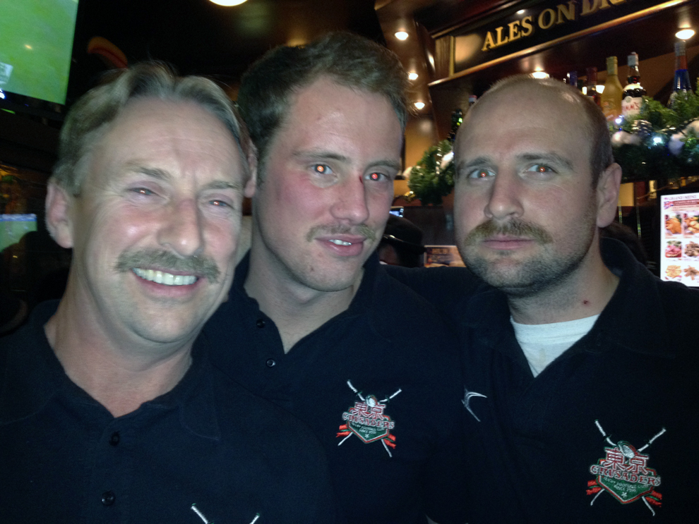 Tokyo Crusaders grow moustaches for Movember and supporting research against prostate cancer