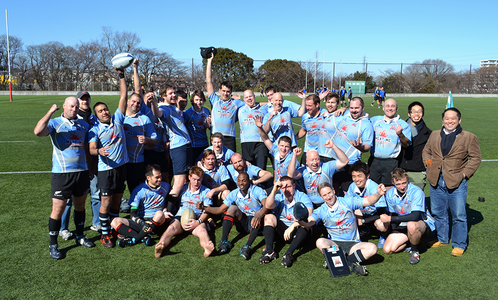 Tokyo Crusaders winning team against All Jinjan RFC