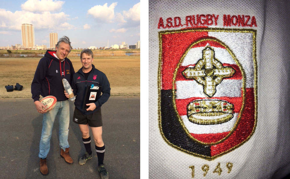 Andrea Dovanzo from the storied Monza RFC in Italy joined the Tokyo Crusaders for a training session while visiting Japan on business