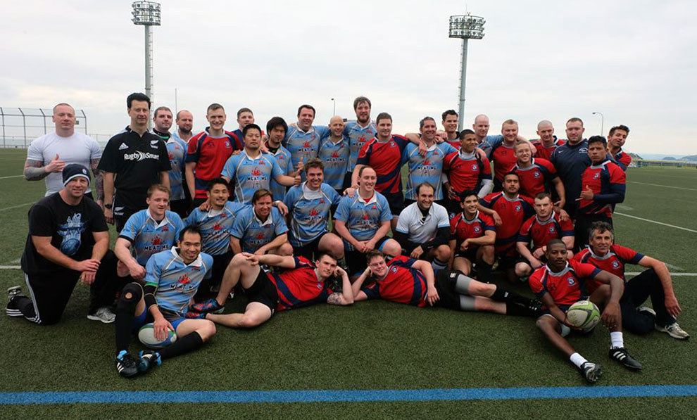 Tokyo Crusaders RFC played US Navy's rugby team George Washington II RFC in Yokohama, Japan